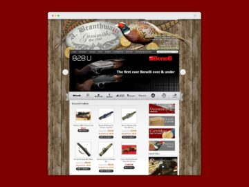 AB Gunsmiths e-commerce website home page design