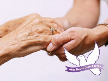 Alice House Care Agency elderly hands holding