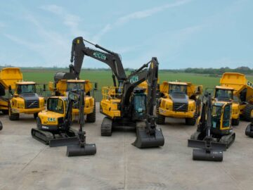 Cheetham Hill Construction JCB digger vehicle fleet