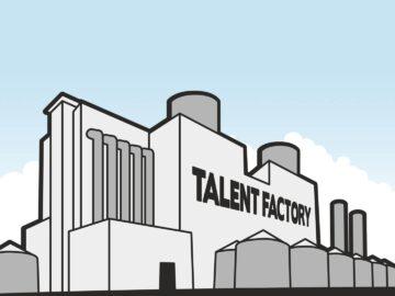 Talent factory minimalist illustration