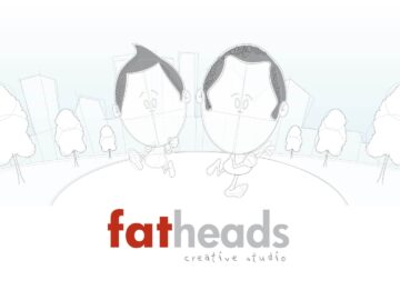Fat Heads sketch characters running