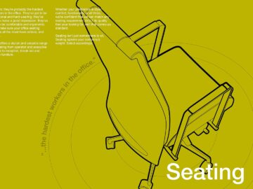 Office furniture chair line-art illustration