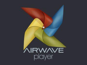 Airwave Player wind toy fan logo design