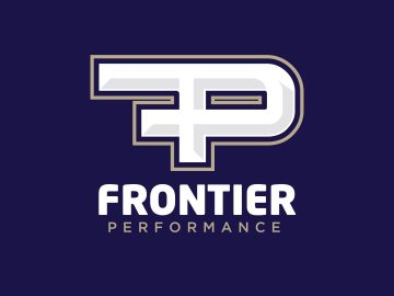 Frontier Performance personal trainer logo design