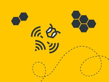 HIVE Content bee and beehive brand illustration and icons