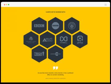 HIVE Content website client logos