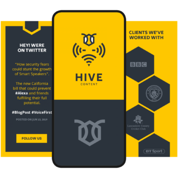 HIVE Content website mobile