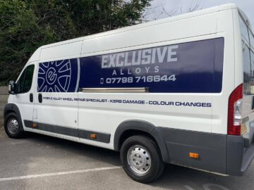 Exclusive Alloys van vehicle livery design