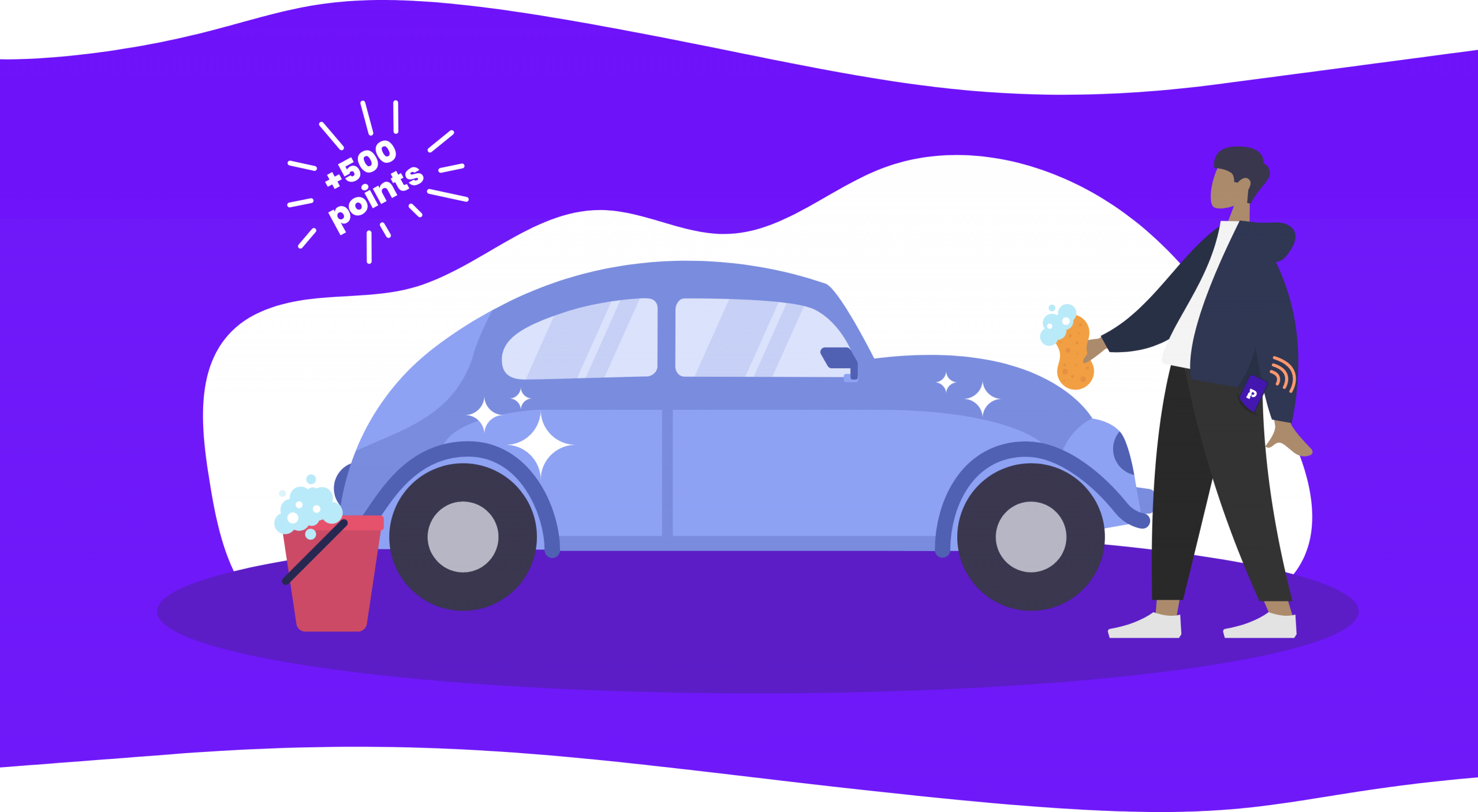 Phavour car washing illustration