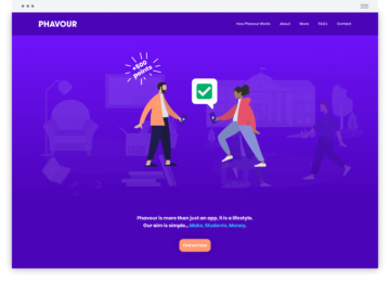 Phavour home page animation