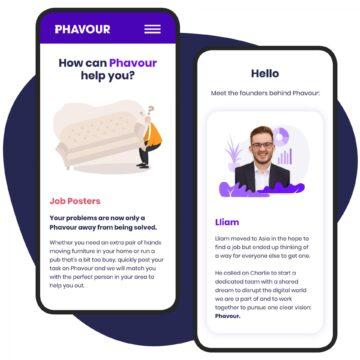 Phavour website mobile