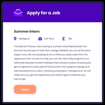 Phavour job post
