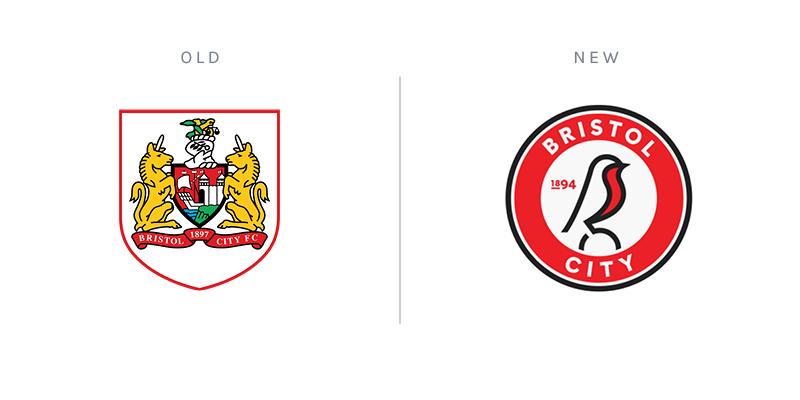 Bristol City club crest redesign rebrand