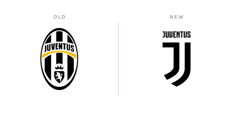 Juventus club crest redesign rebrand