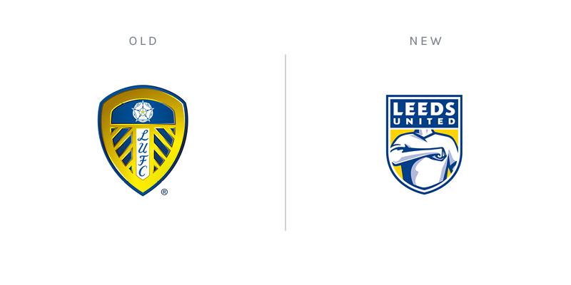 Leeds United club crest redesign rebrand