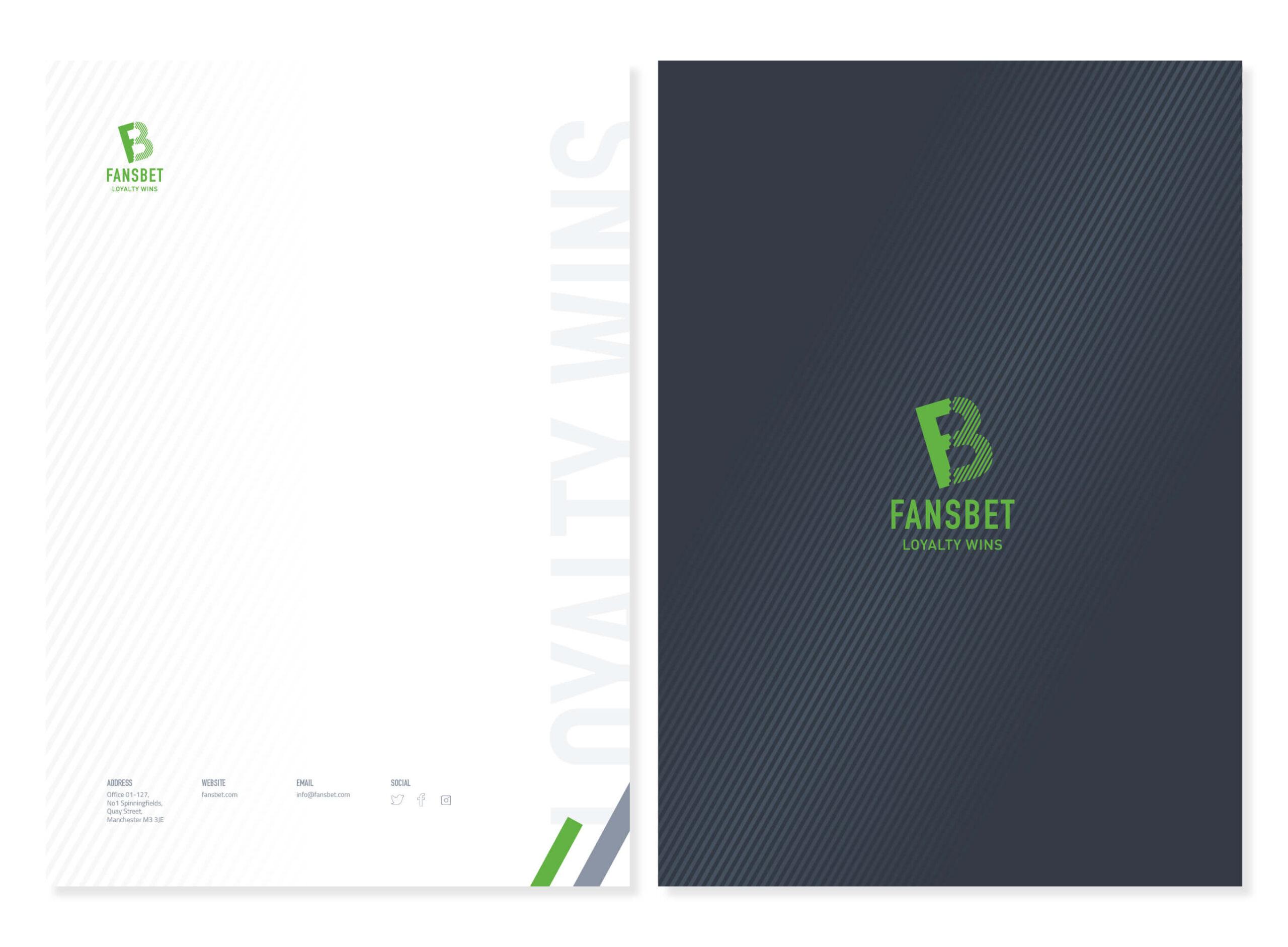 fansbet letterhead design