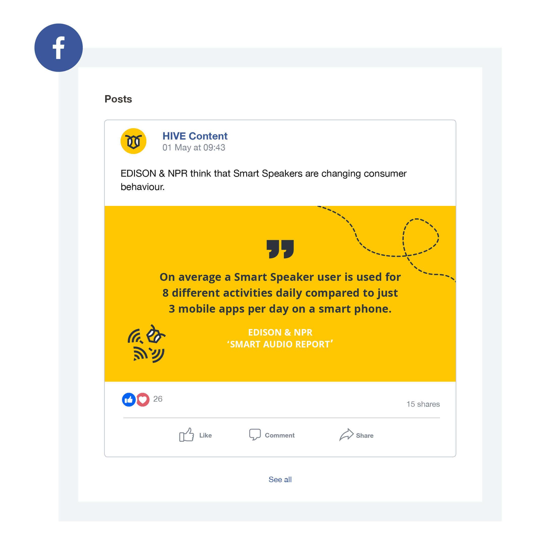 HIVE Content social media design