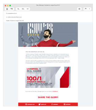 redsbet email template
