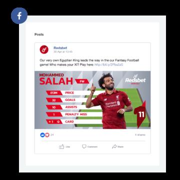 redsbet facebook post