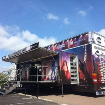 Stone 25th anniversary tour exhibition truck