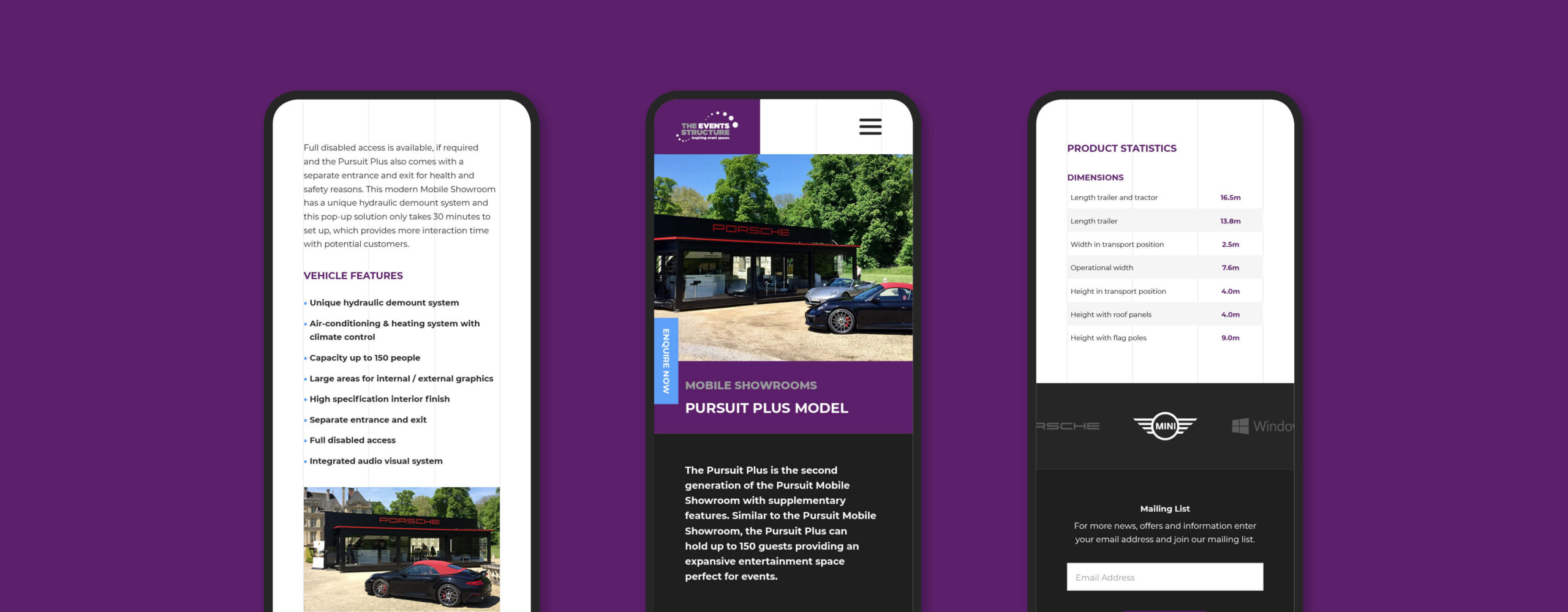 event structure mobile site banner