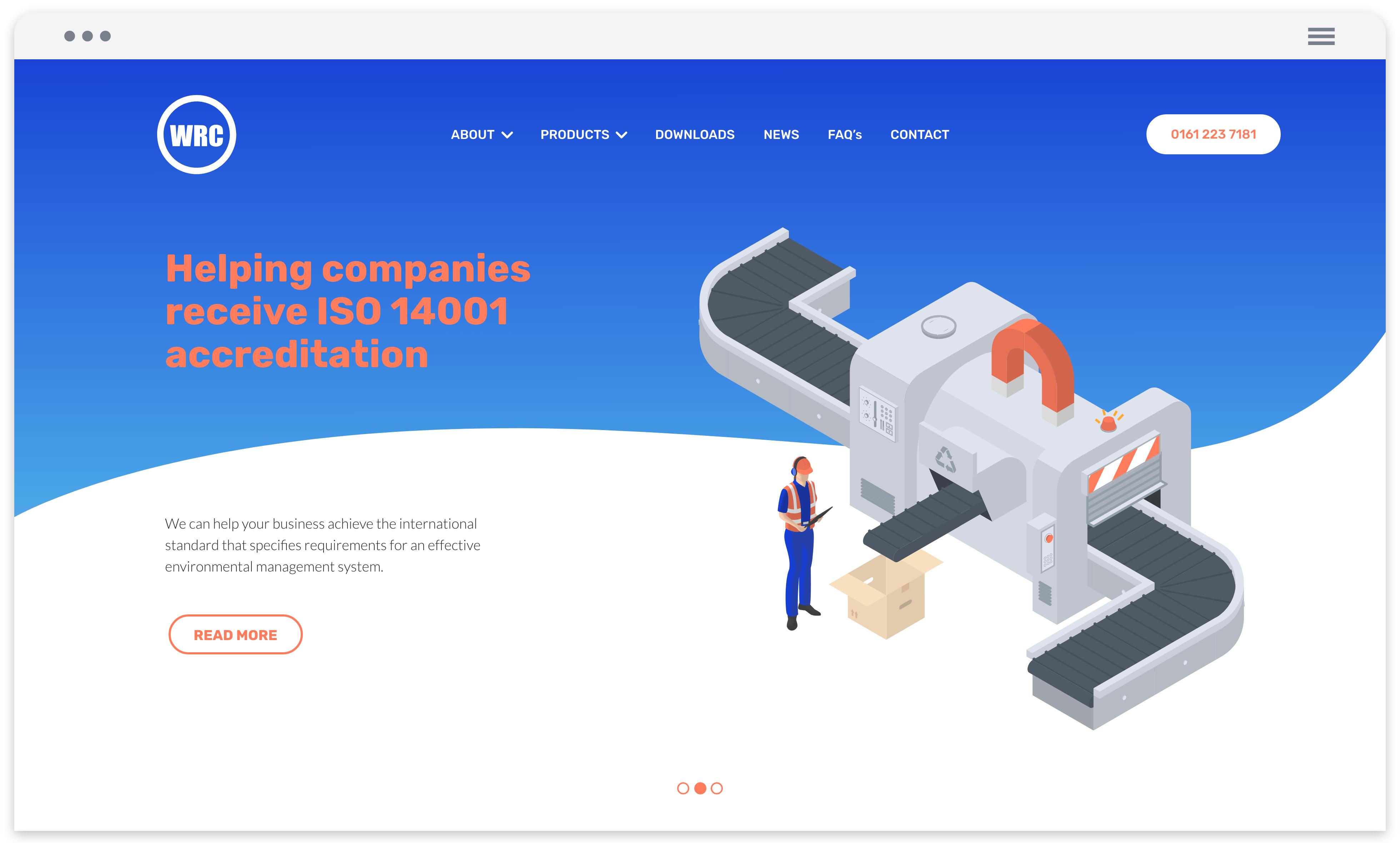 Homepage web mock