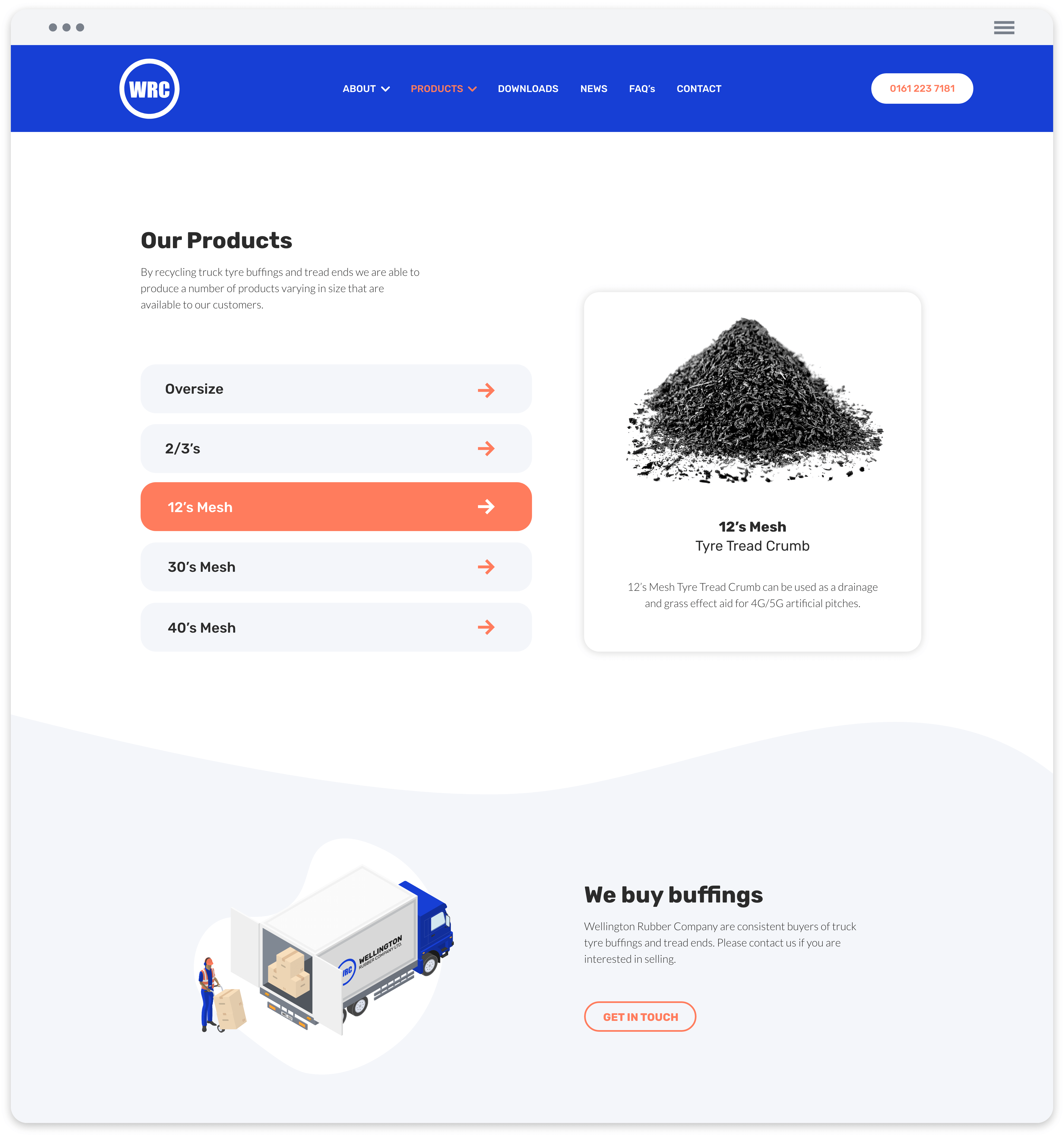 product page mock