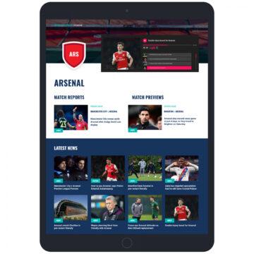 Sport Social website tablet page
