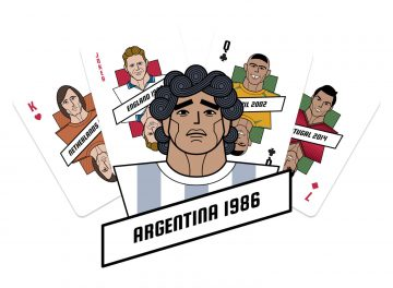 Football World Cup playing cards illustration