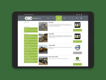 CHC website equipment listing tablet