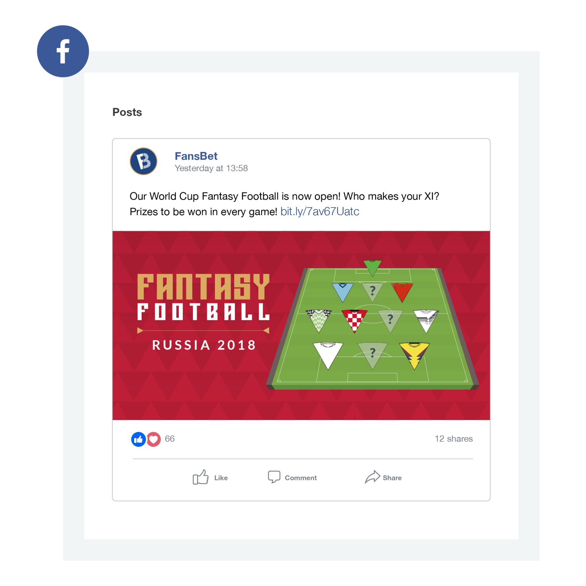 FansBet World Cup social media asset design