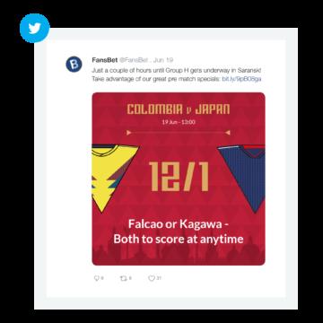 FansBet World Cup social media post