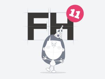 Fat Heads 11th Birthday logo
