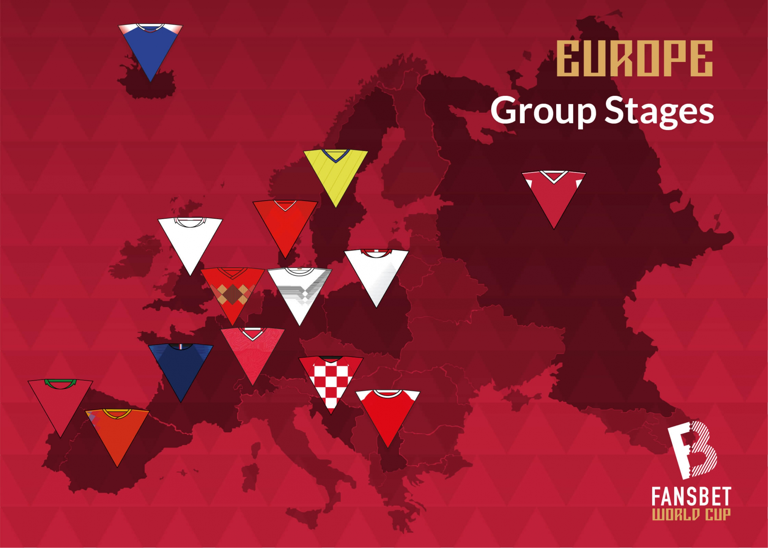 FansBet World Cup Russia map