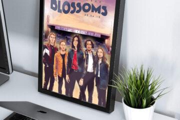 Blossoms band music poster artwork