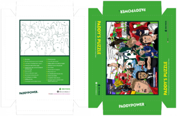 Paddy Power jigsaw box artwork