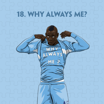 Mario Balotelli Why Always Me? illustration