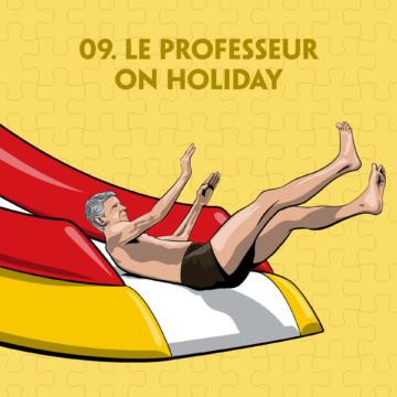 Arsene Wenger waterslide illustration