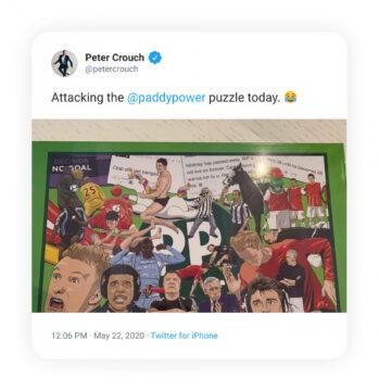 Peter Crouch jigsaw tweet