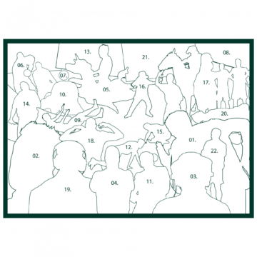 Paddy Power jigsaw artwork silhouettes