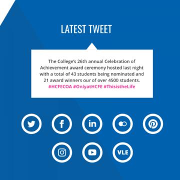 HCFE website Twitter embed