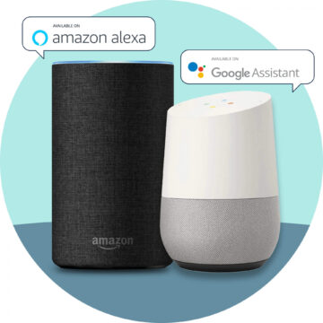 Amazon Alexa and Google Assistant smart speakers