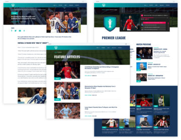 Sport Social website pages
