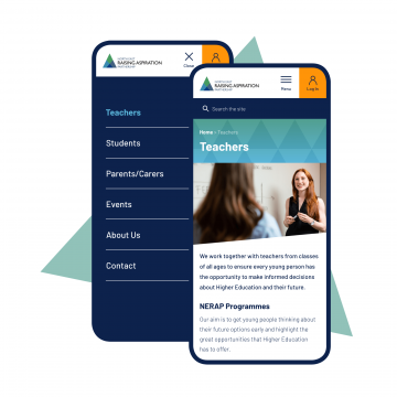 nerap mobile teacher page