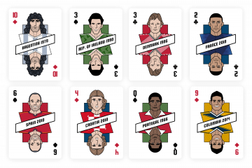 football icons cards
