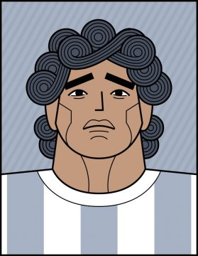Deigo Maradona illustration