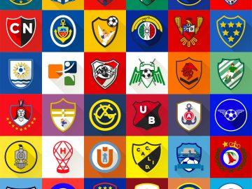 Minimalist football crest design